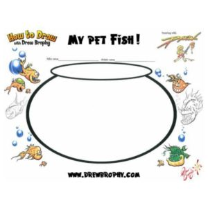 MY PET FISH! - FREE ART TEMPLATE FOR KIDS