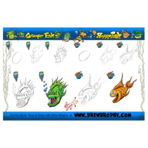HOW TO DRAW A FISH Free Art Template for Kids