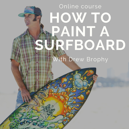 POSCA How to Paint your Surfboard ONLINE COURSE with Drew Brophy
